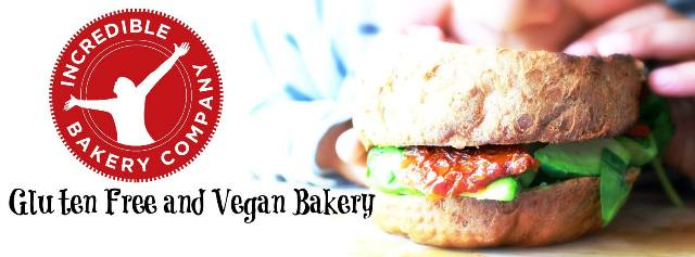 Gluten free and Vegan Bakery from Incredible Bakery Company